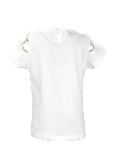Mininio Beyaz Love Pullu Omuz Fiyonklu T-Shirt (9ay-4yaş) Beyaz Love Pullu Omuz Fiyonklu T-Shirt (9ay-4yaş) Beyaz